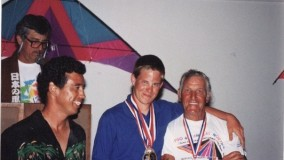 1993 Hawaii Challenge - young JB (19) with Ray Bethell