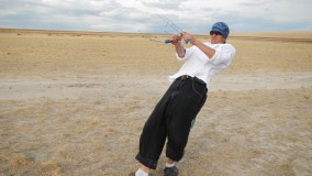 2012 Antelope Island - Leaning back!